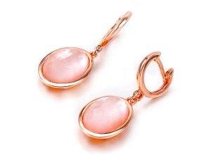 Ohrringe aus rotgoldplattiertem Silber mit Perlmutt