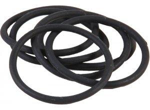 Dusy Zopfgummi groß 10er Pack schwarz