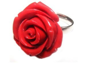 Firetti Fingerring »Rose«, rot