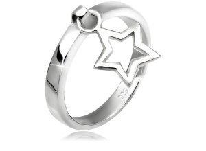 Elli Ring »Stern Anhänger 925 Silber«, silberfarben