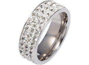 Ring mit Glitzersteinen in silber für Damen von bonprix
