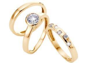 Ringe im 3-teiligen Set in gold für Damen von bonprix