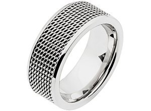 Zeeme Ring »Edelstahl glanz«, grau