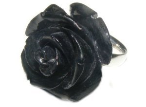 Firetti Fingerring »Rose«, schwarz
