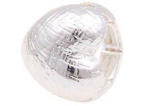 Leslii Ring mit elegantem Herz-Design, silberfarben