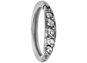 Steel Basicline® Pave Setting Crystals Top Piercing silberfarben