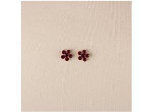 Trachten-Ohrstecker Blume in Rot von Lusana