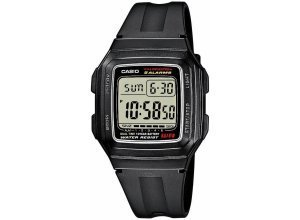 Casio Collection Chronograph »F-201WA-1AEF«, schwarz
