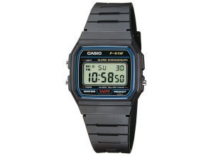 Casio Collection Chronograph »F-91W-1YEF«, schwarz