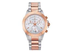 Jacques Lemans Herren-Chronograph roséfarben Rosé/Weiß