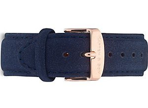 Kapten & Son Uhrenarmband Leder Night Blue Suede BE00A0935D01A