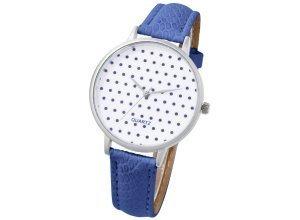 Heine Armbanduhr mit Pünktchenmuster, blau