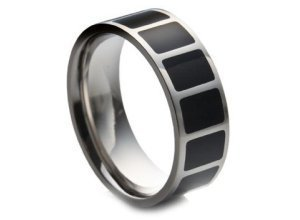 Firetti Fingerring, mit Emaille, schwarz