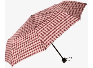 Taschen-Regenschirm, Unisex, houndstooth rose, Größe: OneSize