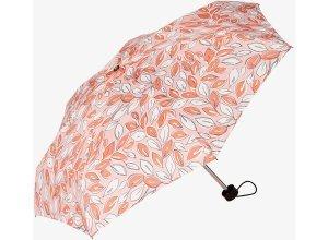 gemusterter Taschen-Regenschirm, Unisex, light peach, Größe: OneSize
