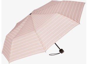gemusterter Taschen-Regenschirm, Unisex, rose-striped, Größe: OneSize