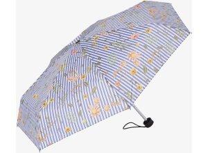 gemusterter Taschen-Regenschirm, Unisex, flower stripes, Größe: OneSize