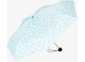 gemusterter Taschen-Regenschirm, Unisex, aqua palm tree, Größe: OneSize