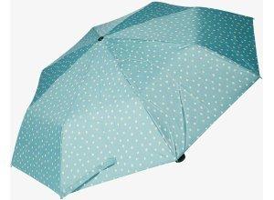 gemusterter Taschen-Regenschirm, Unisex, dots green-peach, Größe: OneSize