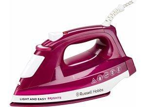 RUSSELL HOBBS Dampfbügeleisen Light&Easy Brights 24820-56, 2400 W, mit antihaftversiegelter farbiger Keramik-Bügelsohle, lila