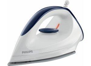 Philips Trockenbügeleisen GC160/02 mit DynaGlide-Bügelsohle, 1200 W, mit gleitfähiger DynaGlide-Bügelsohle, blau