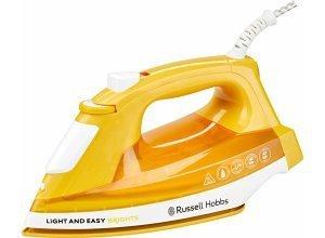 RUSSELL HOBBS Dampfbügeleisen Light&Easy Brights 24800-56, 2400 W, mit antihaftversiegelter farbiger Keramik-Bügelsohle, orange