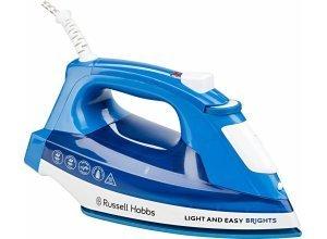 RUSSELL HOBBS Dampfbügeleisen Light&Easy Brights 24830-56, 2400 W, mit antihaftversiegelter farbiger Keramik-Bügelsohle, blau
