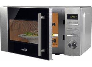 Hanseatic Premium-Line Mikrowelle 800 W, mit Grill, 20 Liter, silberfarben