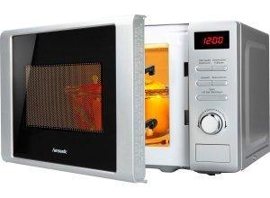 hanseatic Mikrowelle, mit Grill, 20 Liter Garraum, 700 Watt, silberfarben