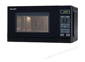 Sharp Mikrowelle R-242BKW, 800 Watt, Garraum 20 Liter