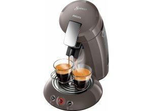 Senseo Kaffeepadmaschine HD6556/00 New Original, mit Crema Plus und Kaffeestärkewahl, grau