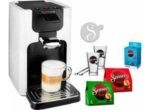 Senseo Kaffeepadmaschine SENSEO® Quadrante HD7865/00, inkl. Gratis-Zugaben im Wert von 26- UVP, weiß