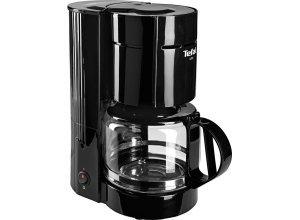 Tefal Filterkaffeemaschine CM1218 UNO, 1,1l Kaffeekanne, Papierfilter, schwarz