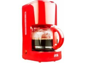 bestron Filterkaffeemaschine ACM300HR, 1,5l Kaffeekanne, Permanentfilter 1x4, rot