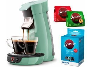 Senseo Kaffeepadmaschine SENSEO® Viva Café HD7829/10, inkl. Gratis-Zugaben im Wert von 14,- UVP, grün