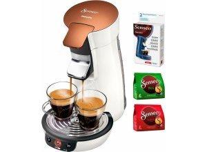 Senseo Kaffeepadmaschine HD7836/00 Viva Café Style, inkl. Gratis-Zugaben im Wert von 14,- UVP, weiß