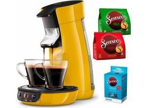Senseo Kaffeepadmaschine SENSEO® Viva Café HD7829/50, inkl. Gratis-Zugaben im Wert von 14,- UVP, gelb