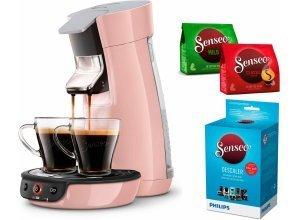 Senseo Kaffeepadmaschine HD7829/30 Viva Café, rosa