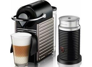 Nespresso Kapselmaschine XN301T Nespresso PIXIE, Inkl. Aerochino, schwarz