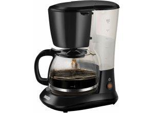 Unold Filterkaffeemaschine 28025 Easy Black, 1,2l Kaffeekanne, schwarz