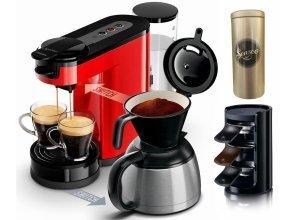 Senseo Kaffeepadmaschine SENSEO® Switch HD7892/80, Papierfilter, rot