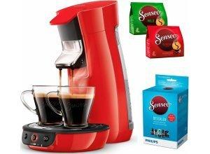 Senseo Kaffeepadmaschine SENSEO® Viva Café HD7829/80, inkl. Gratis-Zugaben im Wert von 14,- UVP, rot