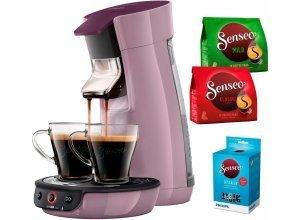 Senseo Kaffeepadmaschine SENSEO® Viva Café HD7829/40, inkl. Gratis-Zugaben im Wert von 14,- UVP, lila