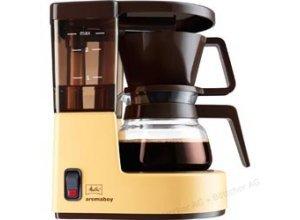 Melitta Kaffeemaschine 1015-03, Aromaboy, Kunststoff, mit Glaskanne, 12 Tassen, beige/braun
