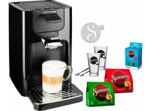 Senseo Kaffeepadmaschine SENSEO® Quadrante HD7865/60, inkl. Gratis-Zugaben im Wert von 26,- UVP, schwarz
