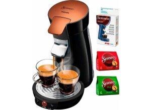 Senseo Kaffeepadmaschine HD7836/90 Viva Café Style, inkl Gratis-Zugaben im Wert von 14 €, schwarz