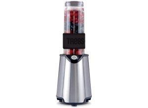 Trebs Mixer mit Trinkflaschen zum Mitnehmen, 300 W, Edelstahl »Smoothie to go 99330«, schwarz