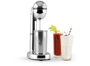 KLARSTEIN Drink Mixer Milchshakes elektrisch mit Becher 100W 450 ml »Van Damme«, silberfarben