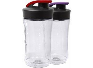 AEG Mini-Mixer Extraflaschen á 0,3 Ltr - Doppelpack ASBEB 2 (2 Stck.), weiß