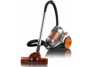 CLEANmaxx Bodenstaubsauger CLEANmaxx Zyklon-Staubsauger Pet Star 700W orange/silber, 700 Watt, beutellos, orange